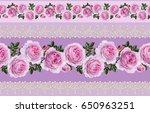 seamless pattern border.... | Shutterstock . vector #650963251