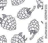 hand drawn outline seamless... | Shutterstock .eps vector #650969101