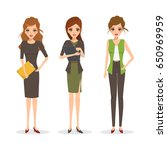 business woman in different...   Shutterstock .eps vector #650969959