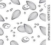 hand drawn outline seamless... | Shutterstock .eps vector #650971321