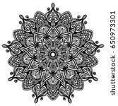 mandala. decorative round... | Shutterstock .eps vector #650973301