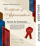 certificate of appreciation...   Shutterstock .eps vector #650975455