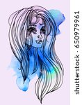 watercolor graphic illustration ... | Shutterstock . vector #650979961