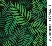 leaves pattern vector | Shutterstock .eps vector #650982145