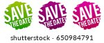 save the date stamps. | Shutterstock .eps vector #650984791