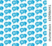 pattern background hashtag... | Shutterstock .eps vector #650986441