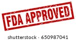 square grunge red fda approved... | Shutterstock .eps vector #650987041