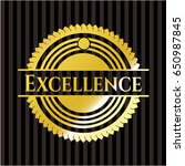 excellence shiny badge | Shutterstock .eps vector #650987845