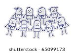 hand drawn cartoon characters... | Shutterstock .eps vector #65099173