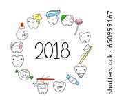 cute cartoon teeth and...   Shutterstock .eps vector #650999167