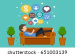 home alone concept. social... | Shutterstock .eps vector #651003139