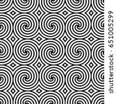 black and white seamless...   Shutterstock .eps vector #651005299