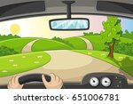 someone drives by car over a... | Shutterstock .eps vector #651006781