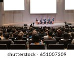 rear view of audience over the... | Shutterstock . vector #651007309