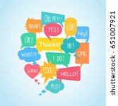 set of colorful speech bubbles... | Shutterstock .eps vector #651007921