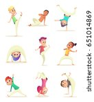 funny children practice... | Shutterstock .eps vector #651014869