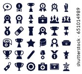 first icons set. set of 36... | Shutterstock .eps vector #651014989