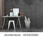 simple writing table with blank ... | Shutterstock . vector #651023281
