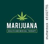 vintage marijuana label design  ... | Shutterstock .eps vector #651027751
