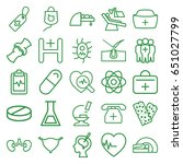 medicine icons set. set of 25... | Shutterstock .eps vector #651027799