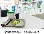 drug prescription for treatment ... | Shutterstock . vector #651028375