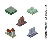 isometric construction set of... | Shutterstock .eps vector #651029215