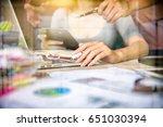 business team meeting. photo...   Shutterstock . vector #651030394