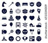 happy icons set. set of 36... | Shutterstock .eps vector #651034009