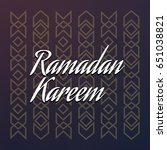 ramadan kareem beautiful... | Shutterstock .eps vector #651038821