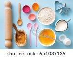 Baking Utensils And Ingredient...