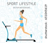 concept of sport lifestyle ... | Shutterstock .eps vector #651045619