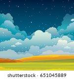 Autumn Vector Landscape With...