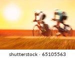 bike race  motion blur | Shutterstock . vector #65105563
