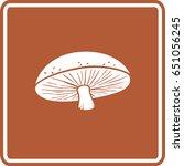 edible mushroom sign | Shutterstock .eps vector #651056245