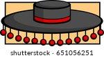 spanish flamenco hat | Shutterstock .eps vector #651056251