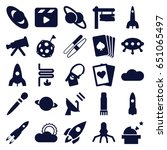 space icons set. set of 25... | Shutterstock .eps vector #651065497