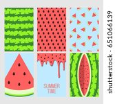 set of bright cards. set of... | Shutterstock .eps vector #651066139
