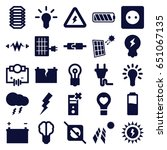 electricity icons set. set of... | Shutterstock .eps vector #651067135