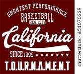 design basketball california... | Shutterstock .eps vector #651070339