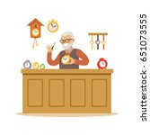 bearded senior man repairing...   Shutterstock .eps vector #651073555