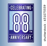 88 years anniversary design... | Shutterstock .eps vector #651075559