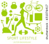 concept of sport lifestyle ...   Shutterstock .eps vector #651076417