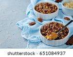 sweet potato banana baked... | Shutterstock . vector #651084937