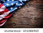 american  flag. usa flag on... | Shutterstock . vector #651086965