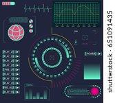 hud ui element for app.... | Shutterstock .eps vector #651091435