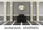 classic living room with black...   Shutterstock . vector #651094651