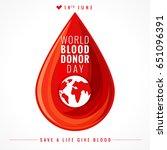 world blood donor day banner.... | Shutterstock . vector #651096391