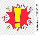 pop art speech bubble with ... | Shutterstock .eps vector #651103129