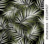 palm pattern. background | Shutterstock .eps vector #651104527