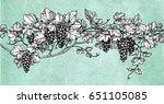 hand drawn vector illustration... | Shutterstock .eps vector #651105085